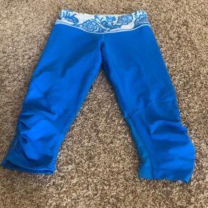 Blue LULU Lemon 3/4 yoga/running pants
